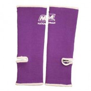 Nationman Ankle Support Free Size Purple/White (pair)