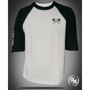 Panic Switch Raglan Biker T-shirt Black/White