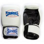 Sandee Authentic Velcro Nyrkkeilyhanskat Valkoinen Musta