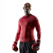 Sandee Basic Rash Guard Long Sleeve Red