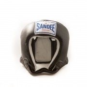 Sandee Open Face Head Guard Black