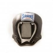 Sandee Open Face Head Guard Black