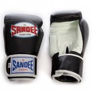 Sandee Velcro 2 Tone Boxing Gloves Black/White