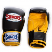 Sandee Velcro 2 Tone Boxing Gloves Black/Yellow