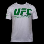 UFC Supporter White/Green t-paita