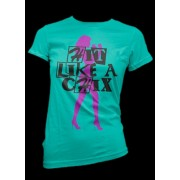 Fight Chix Hit Like A Chix Teal T-shirt