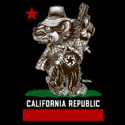Tribal Cali Bear T-shirt Black