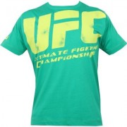 UFC Distressed Green/Yellow tee