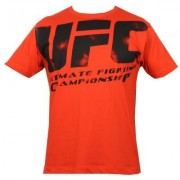 UFC Distressed Red/Black tee