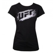 UFC Ladies Scratch Black t-paita