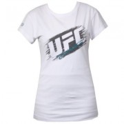UFC Ladies Scratch White t-paita