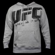 UFC Slant Hoodie Grey