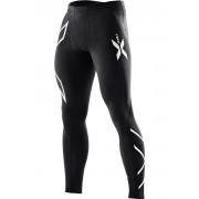 2XU Men's Compression Tights Black/Silver Logo Kompressiotrikoot