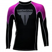 Throwdown Rash Guard Long Sleeve Purple/Black