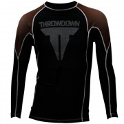 Throwdown Rash Guard Long Sleeve Brown/Black