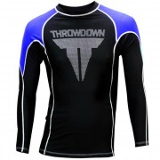 Throwdown Rash Guard Long Sleeve Blue/Black