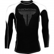 Throwdown Rash Guard Long Sleeve White/Black