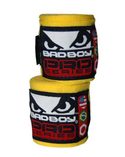 Bad Boy Hand Wraps Stretch 2,5 m yellow (pair)