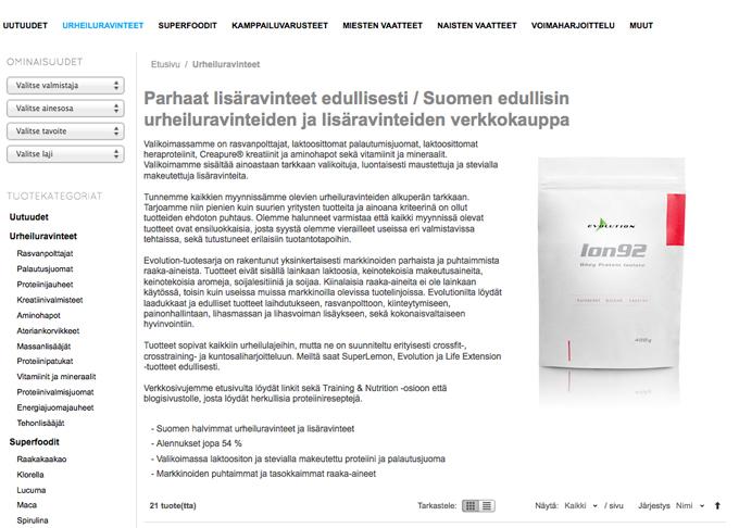 Ion92, markkinoiden ainoa täysin laktoositon heraproteiini print screen